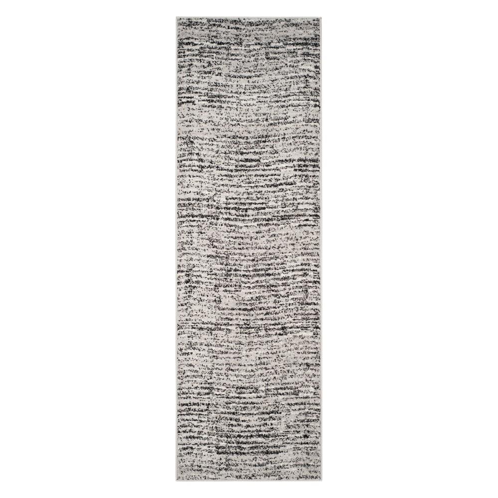 2'6X22' Spacedye Design Runner Black/Silver - Safavieh