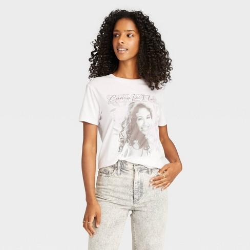 Women's Selena Como La Flor Short Sleeve Graphic T-Shirt - Purple - image 1 of 2