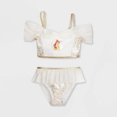 Girls' Disney Beauty and the Beast Belle 2pc Midkini Set - Yellow - Disney Store