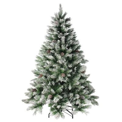 Northlight 7' Flocked Angel Pine Artificial Christmas Tree - Unlit
