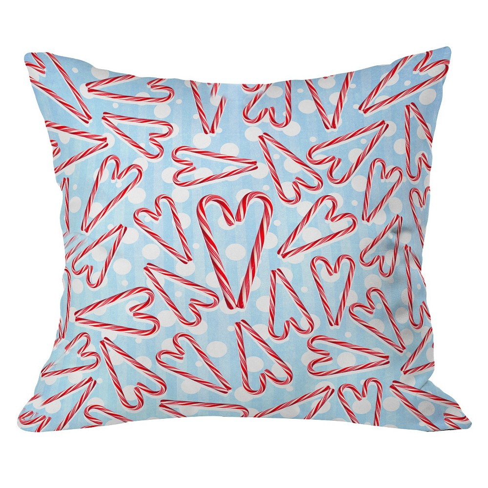 "Air Blue Holiday Love and Polka Dots Throw Pillow (20""x20..."
