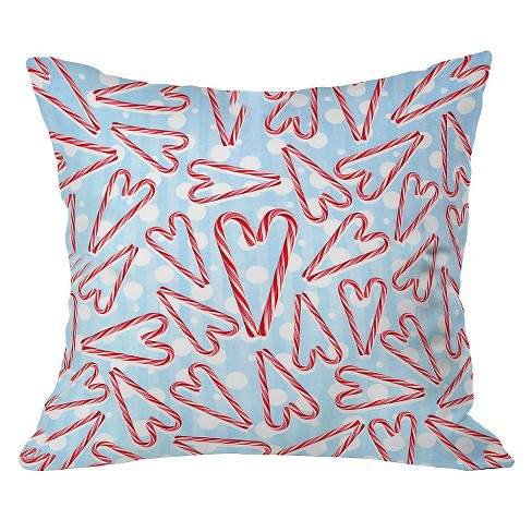 "20""x20"" Holiday Love and Polka Dots Throw Pillow Air Blue - Deny Designs - image 1 of 2"