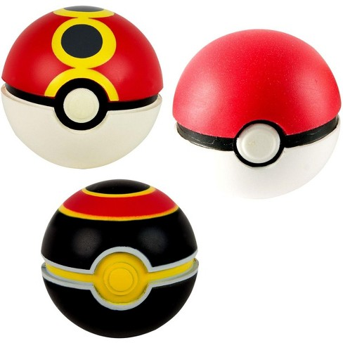 Pokemon Throw n Catch Luxury, Poke and Repeat Poke Ball 3-Pack - image 1 of 2