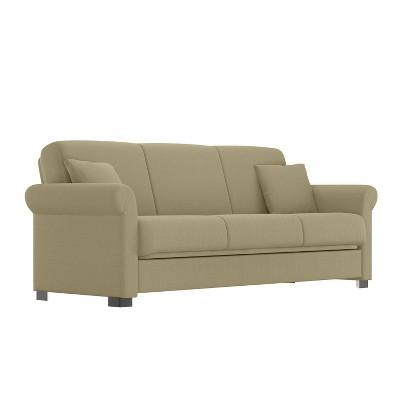 Robert Linen Futon Set Sofa - Convert-A-Couch