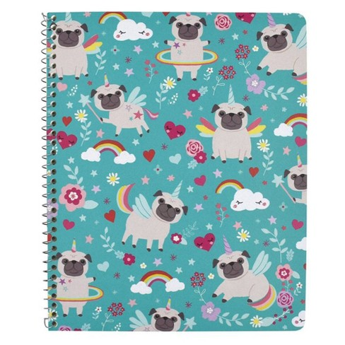 UniDogs 1 Subject Wide Ruled Spiral Notebook Teal - Greenroom - image 1 of 3