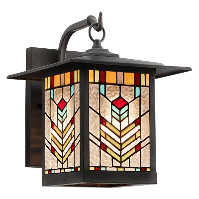 """11.75"""" 1-Light Mission Style Outdoor Wall Lantern Sconce Oil Rubbed Bronze - River of Goods"""
