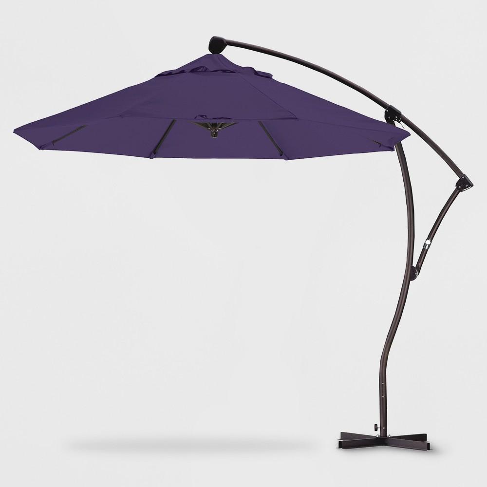 9' Aluminum Crank Lift Patio Umbrella Purple - California Umbrella