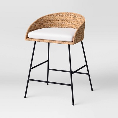 Landis Woven Backed Counter Height Barstool with Cushion - Threshold™