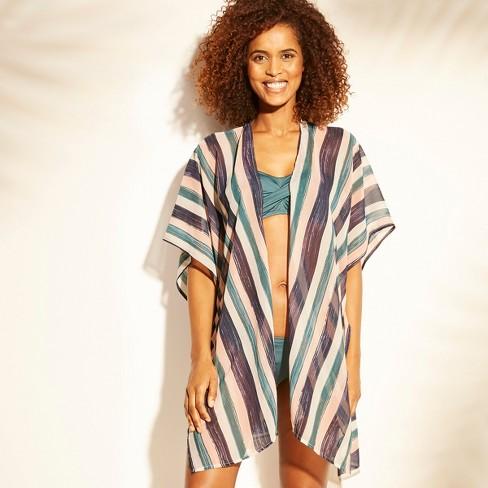 5945658d1a544 Women s Open Front Kimono Cover Up - Kona Sol™ Multi Stripe   Target