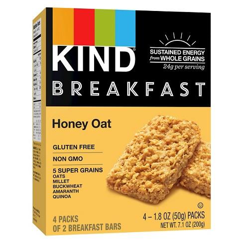 KIND Honey Oat Breakfast Bars - 4pk of 2 Bars - image 1 of 4