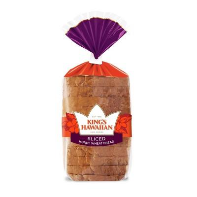 King's Hawaiian Sliced Honey Wheat Bread - 13.5oz