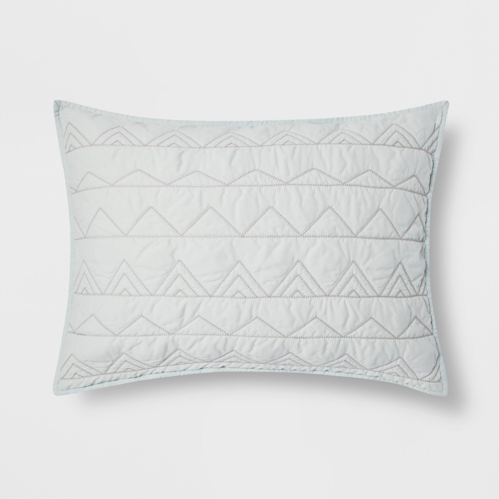 Standard Pillow Triangle Sham Blue - Makers Collective