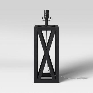 Small Box Lamp Base Black - Threshold™