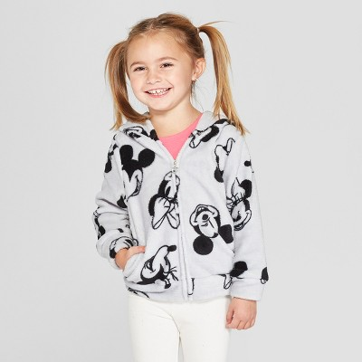 Toddler Girls' Disney Mickey Mouse & Friends Minnie Mouse Sweatshirt - Gray 18M