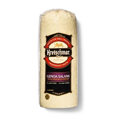 Kretschmar Genoa Salami - Deli Fresh Sliced - price per lb