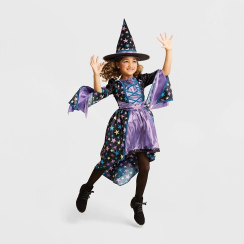 Girls' Star Dust Witch Halloween Costume - Hyde & EEK! Boutique™ - image 1 of 4