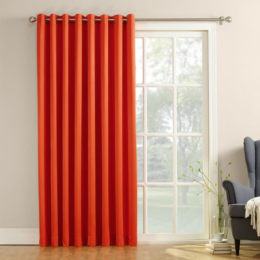 Seymour Extra Wide Energy Efficient Patio Door Curtain Panel Tangerine (Orange) 100