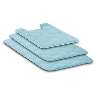 Ogee Bath Rug Set 3pc - Light Sky Blue - VCNY®