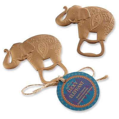 12ct Lucky Golden Elephant Bottle Opener