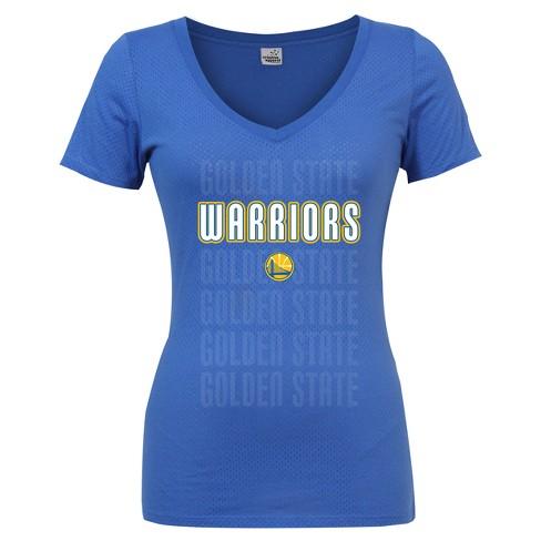 various colors 1d87b 38900 Golden State Warriors Women's Short Sleeve Mesh Burnout T-Shirt - S