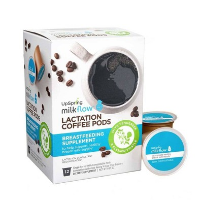 UpSpring Milkflow Herbal Supplements Lactation Coffee Pods