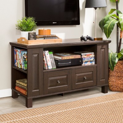 """Wood Storage Console TV Stand For TVs Up To 50"""" - Saracina Home : Target"""
