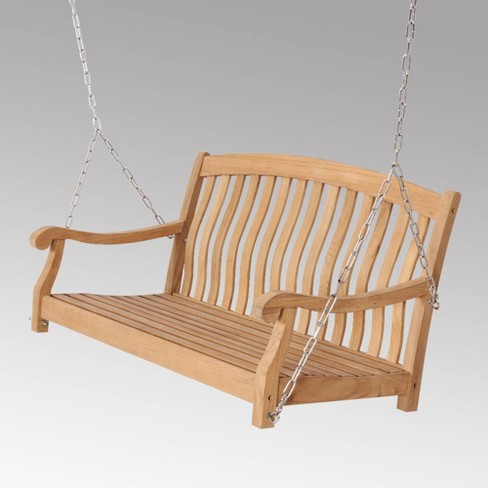 Sherwood Teak Porch Swing with Stainless Steel Chain - Cambridge Casual - image 1 of 4