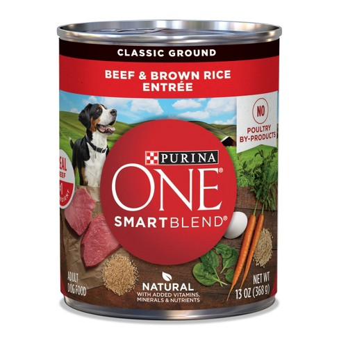 Purina ONE Classic Ground Beef & Brown Rice Entree Wet Dog Food - 13oz - image 1 of 4