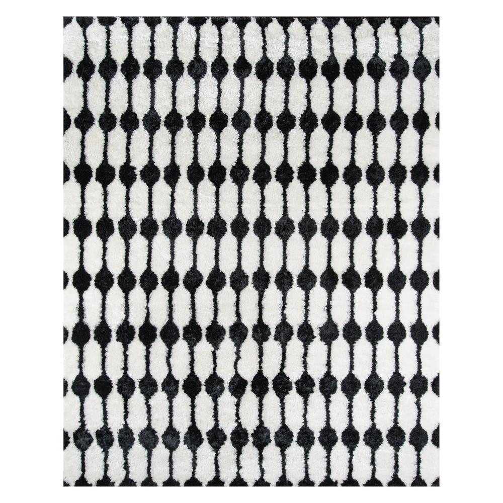 5'X7'6 Geometric Tufted Area Rug Black - Novogratz By Momeni