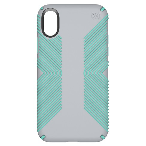Speck iPhone X Case Presidio Grip - Dolphin/Aloe - image 1 of 7