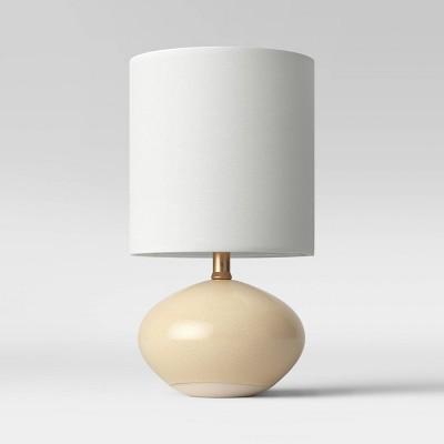 CA LED Ceramic Glaze Accent Table Lamp Tan (Includes Energy Efficient Light Bulb)- Project 62™