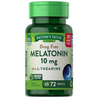 Nature's Truth Melatonin Dietary Supplement Tablets - 72ct