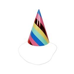 10ct Rainbow Party Hat - Spritz™