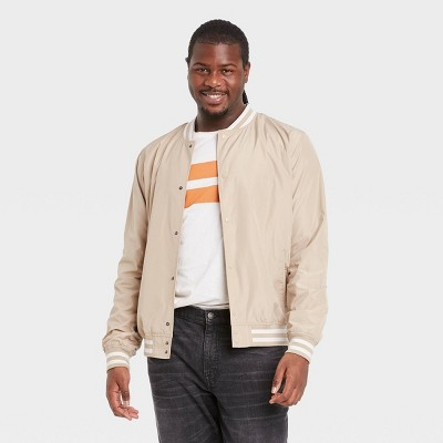 Men's Big & Tall Bomber Jacket - Goodfellow & Co™ Light Taupe