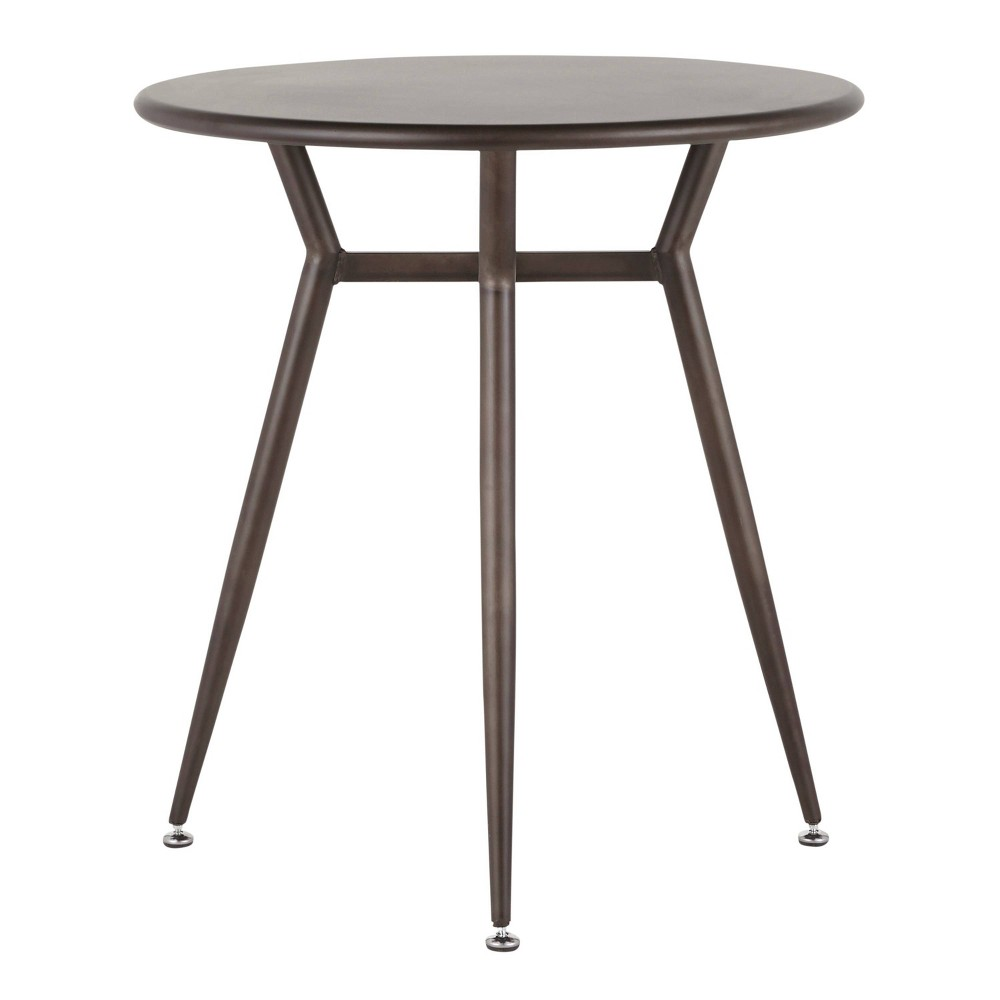 Awesome Clara Industrial Round Dinette Table Antique Lumisource Ncnpc Chair Design For Home Ncnpcorg