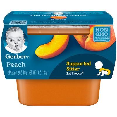 Gerber 1st Foods Baby Food Peach - 2oz (2ct)