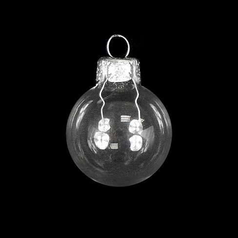 "Northlight 6ct Shiny Glass Ball Christmas Ornament Set 4"" - Clear Transparent - image 1 of 1"