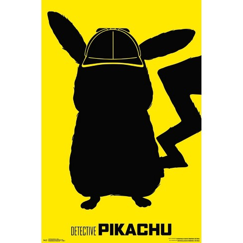 """34""""x23"""" Detective Pikachu Outline Unframed Wall Poster Print - Trends International - image 1 of 2"""