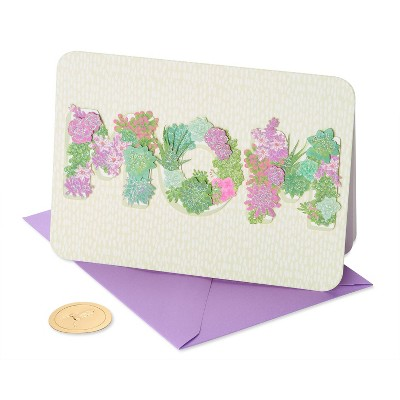 Mother's Day Greeting Card Mom Succulent Planters - PAPYRUS