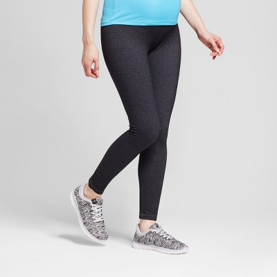 Maternity Crossover Panel® Active Leggings - Isabel Maternity™ by Ingrid & Isabel® Dark Heather Gray L