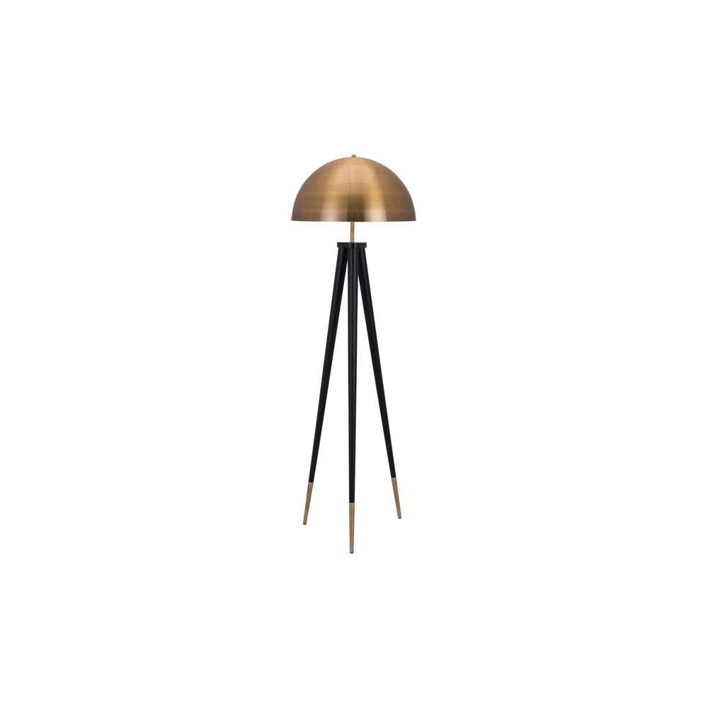 MidCentury Modern Floor Lamp Brass/Black 61 (Lamp Only) - ZM Home