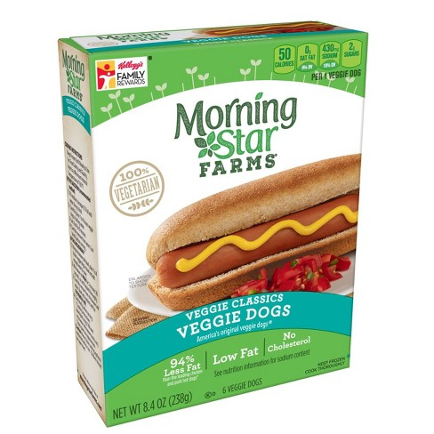 MorningStar Farms Classic Frozen Veggie Dogs - 6ct - image 1 of 2