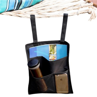 Island Retreat Hammock Organizer - Black - Island Umbrella