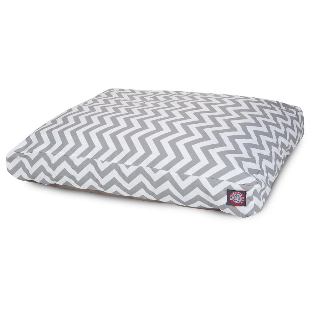 Majestic Pet Chevron Rectangle Dog Bed - Gray - Large