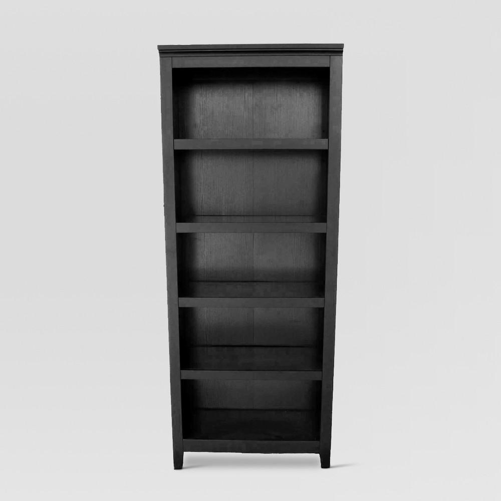 72 34 Carson 5 Shelf Bookcase Black Threshold 8482