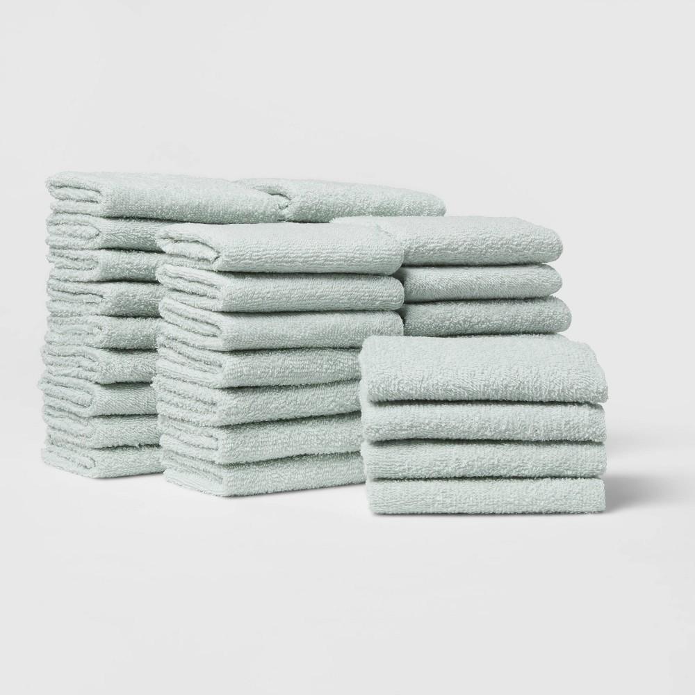 36pk Washcloth Bundle Mint Room Essentials 8482