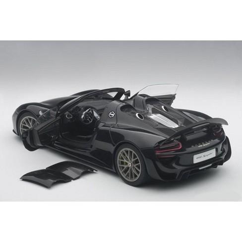 porsche 918 spyder weissach package black metallic 1/18 model car