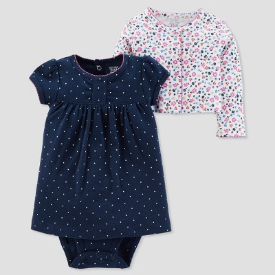 Baby Girls' 2pc Print Dress Set - Just One You® made by carter's Navy 3M