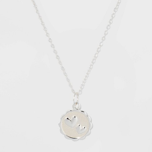 Sterling Silver Mom Medallion Necklace - Silver - image 1 of 2