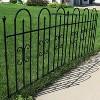 "38"" x 8' Decorative Finial Border Fence 2pc - Black - Sunnydaze Decor - image 2 of 4"